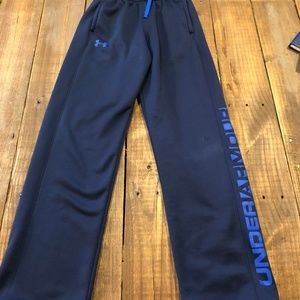 Under Armour Boys Seat Pants Blue Youth Large